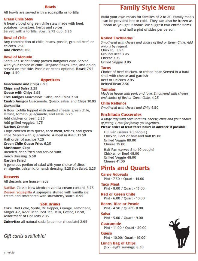 Artisco Cafe And Bar General Menu