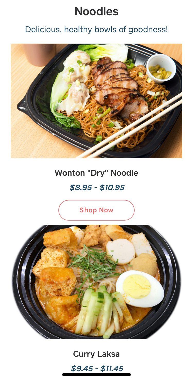 Asian Cookery General Menu