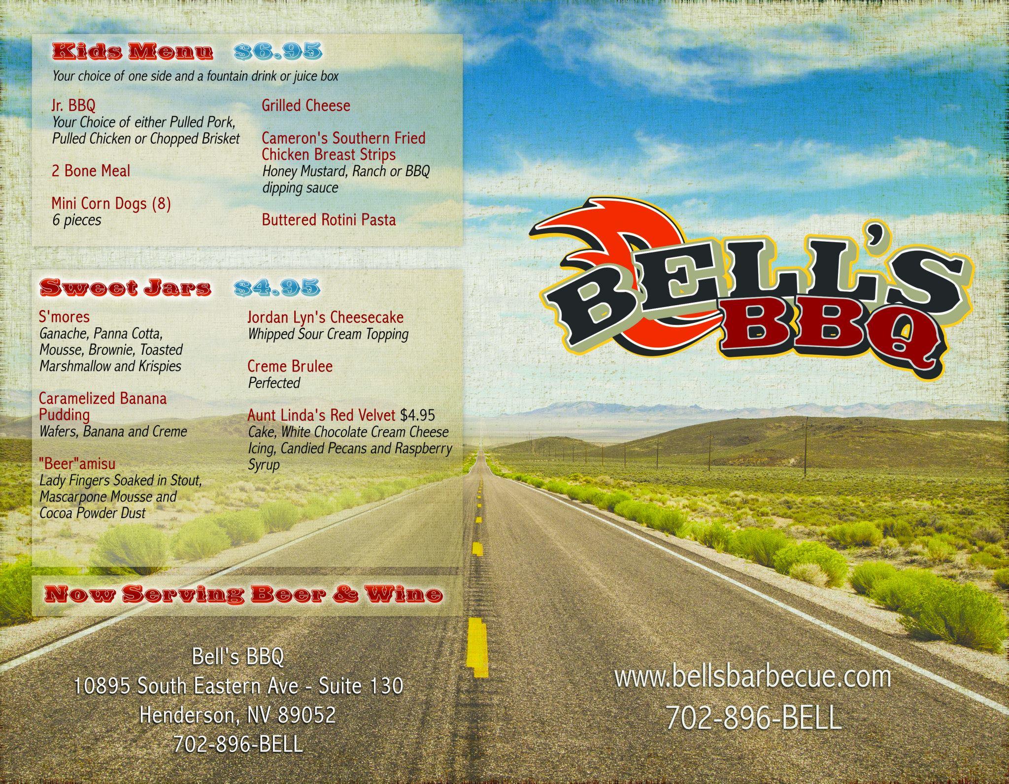 Bells Bbq General Menu