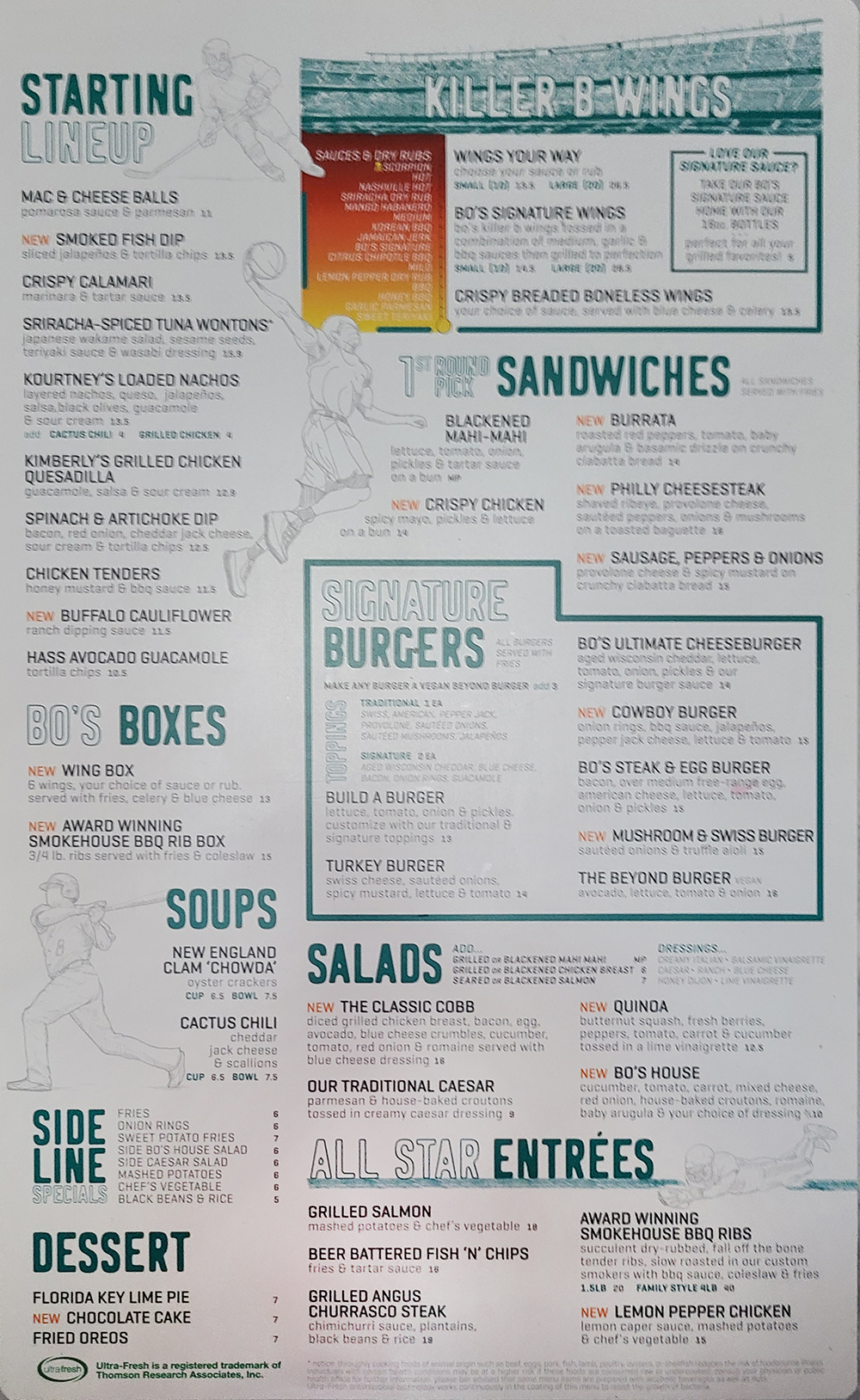 Bokampers Sports Bar And Grill General Menu