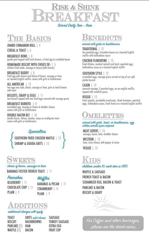 King Neptunes Seafood Restaurant General Menu