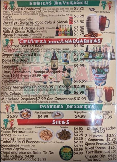 San Antonio Authentic Mexican Restaurant General Menu