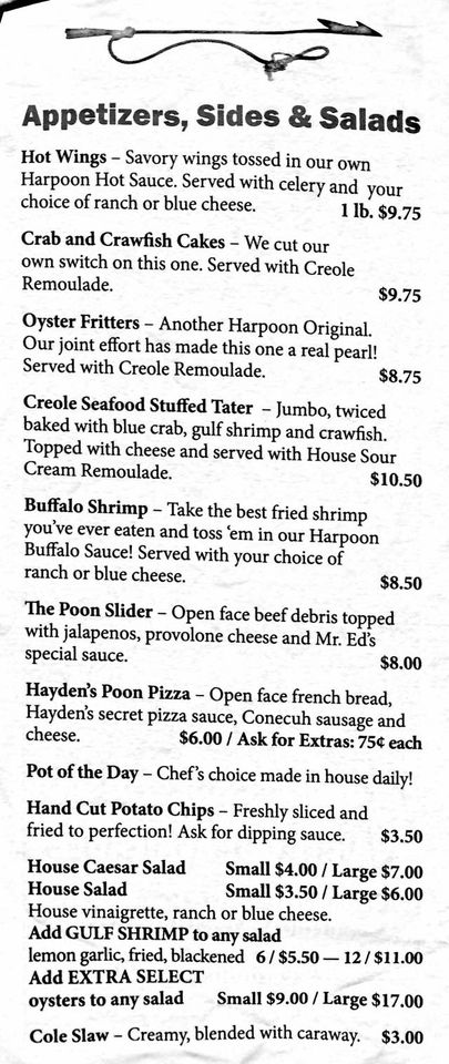 The Flying Harpoon 2 General Menu